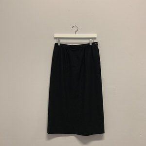 Pendleton Black Wool Pencil Skirt (Vintage)